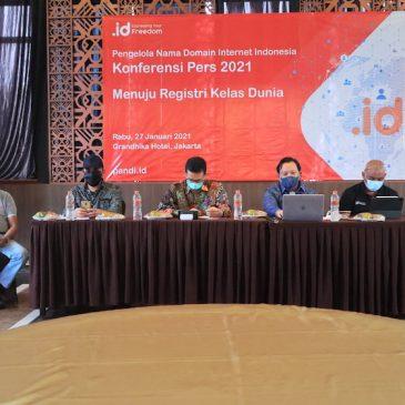 Konferensi Pers 2021 MENUJU REGISTRI KELAS DUNIA, PANDI (PENGELOLA NAMA DOMAIN INTERNET INDONESIA) LAKUKAN PERCEPATAN TRANSFORMASI DIGITAL